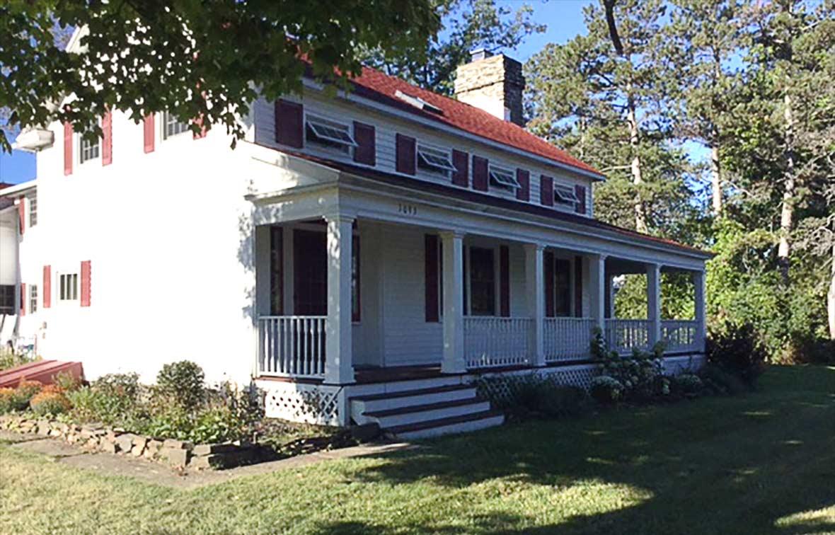 The main house at Longfield Farm